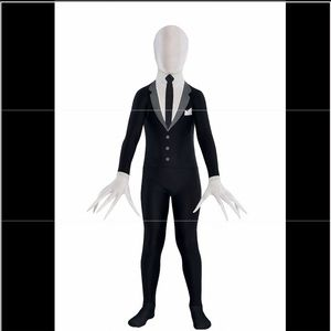 Kids Slenderman Skin Suit Costume, X-Large